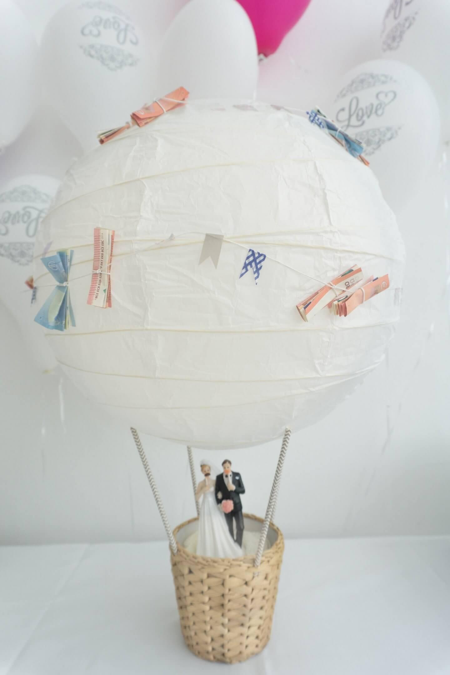 Geldgeschenk Heißluftballon