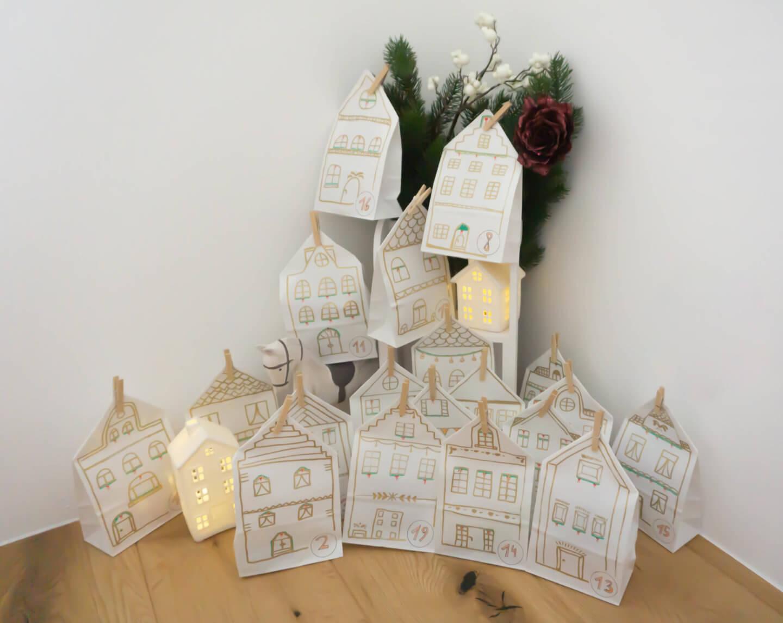 DIY: Adventskalender Häuser