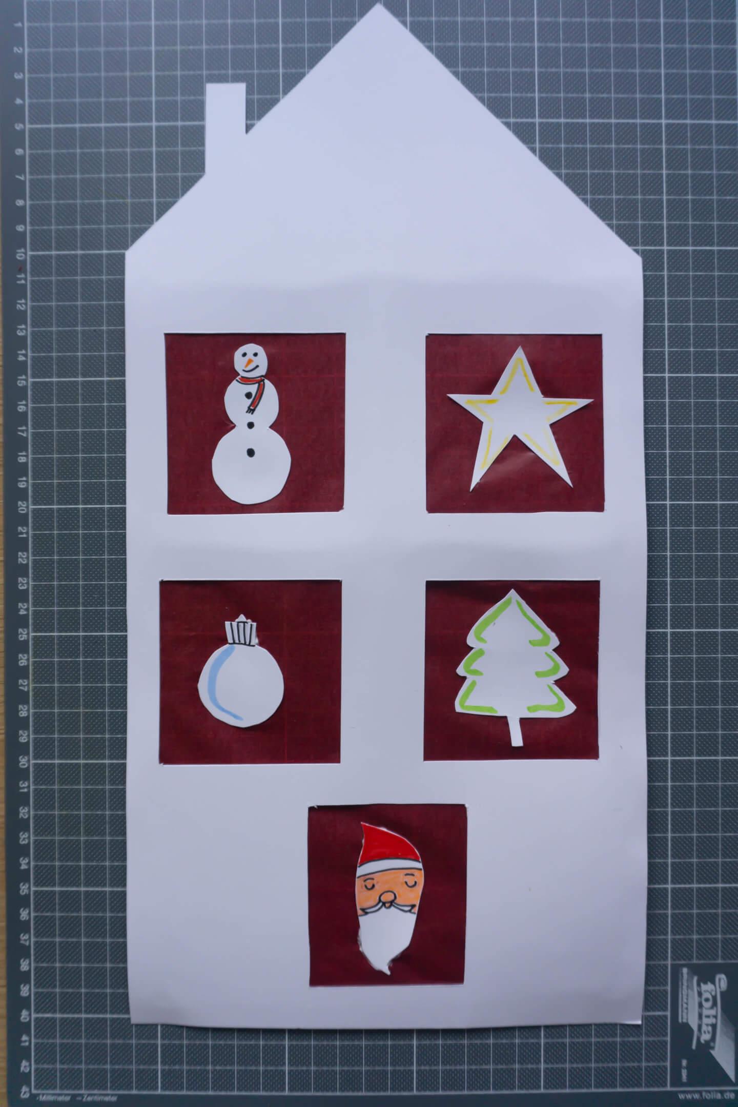 fertiges Weihnachtsfenster