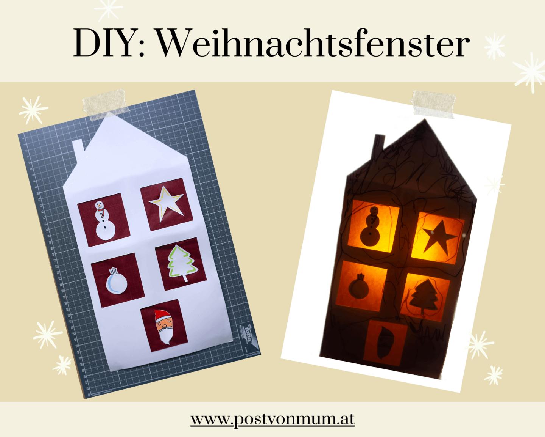 DIY: Weihnachtsfenster